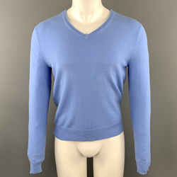 Polo By Ralph Lauren Size S Light Blue Cashmere V-neck Pullover