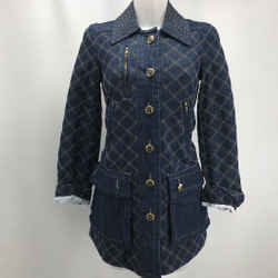 Marc By Marc Jacobs Blue Quilted Denim Jacket XS