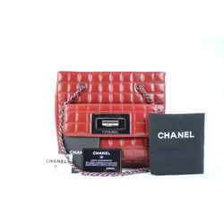 Chanel Reissue Quilted Chocolate Bar Chain Tote Burgundy Lambskin 113CCA31717