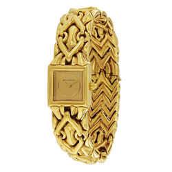 Bulgari 18K Gold Trika Bracelet Watch BJ 07