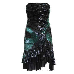 Haute couture sequins dress