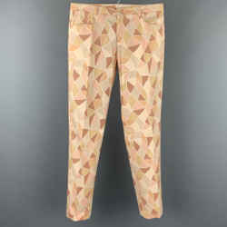 VERSUS by GIANNI VERSACE Size 30 Beige Geometric Cotton Casual Pants