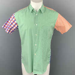 COMME des GARCONS SHIRT Size M Multi-Color Checkered Cotton Short Sleeve Shirt