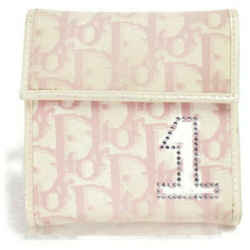 Christian Dior Pink Monogram Trotter Girly Chic Wallet Compact 872935