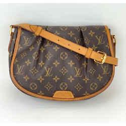 Louis Vuitton Monogram Menilmontant PM Shoulder Crossbody Bag M40474 A664 AUTH