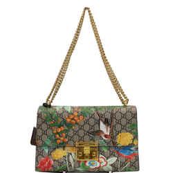 Gucci Tian Padlock Gg Supreme Leather Shoulder Bag Beige 409486