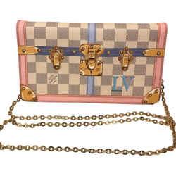 "Louis Vuitton Pochette Weekend Summer Trunks Limited Edition Damier Azur Canvas Cross Body Bag 8.7""l X 1""w X 5""h"