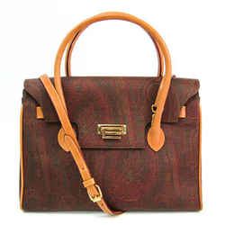 Etro Paisley Pattern Women's Leather,PVC Handbag,Shoulder Bag Brown,Mul BF515028