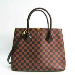 Louis Vuitton Damier Kensington N41435 Women's Handbag Ebene Bf511050