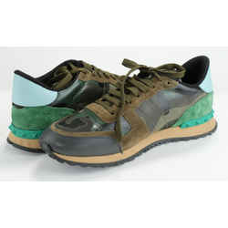 Valentino Garavani Sneakers In Camouflage Canvas And Suede