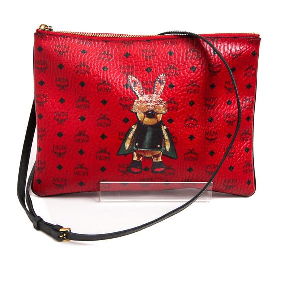 MCM Cherry Red Robot Rabbit Crossbody Bag
