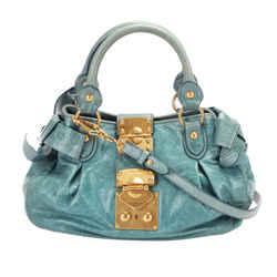 Vintage Authentic Miu Miu Vitello Lux Bauletto Aperto Leather Satchel