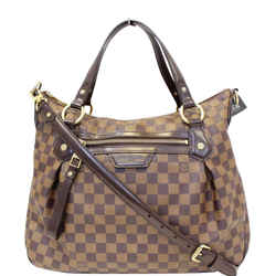 Louis Vuitton Evora Mm Damier Ebene Tote Shoulder Bag