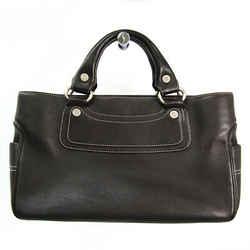 Celine Boogie Women's Leather Handbag Dark Brown BF525512