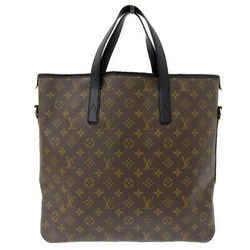 Auth Louis Vuitton Monogram Macassar Davis Tote Bag M56708 Leather
