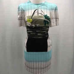 Peter Pilotto Blue Short Sleeve Dress 6
