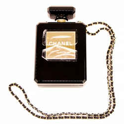 Minaudiere Perfume Bottle Limited Edition 2014 Black Plexiglass Shoulder Bag