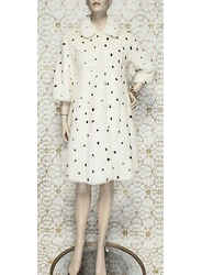 New Alexander Mcqueen  White With Black Spots Mink Fur Coat  40 - 4/6