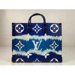 Louis Vuitton Limited Edition Giant Monogram Escale Onthego GM in Blue Tote Shoulder Handbag