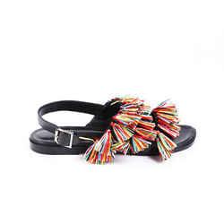 Manolo Blahnik Cuture Fringe Sandals SZ 38