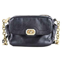 Coach Twist Lock Cross Body Bag Black One Size Authenticity Guaranteed