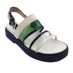 Marni White Multi PVC Sandals