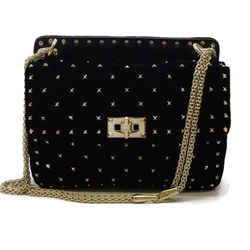 Valentino Rockstud Velvet Shoulder Bag