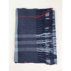 Burberry Navy Blue 100% Lambswool Scarf