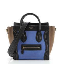 Tricolor Luggage Bag Nubuck Nano