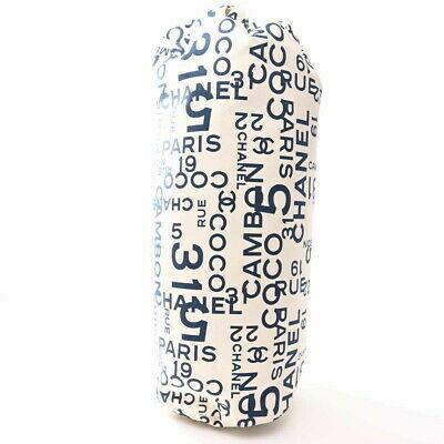 Auth Chanel Bacy Towel Bag Set Men,women,unisex Canvas Shoulder Bag Navy