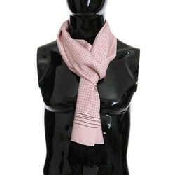 Dolce & Gabbana Pink Silk Polka Dot Men's Scarf