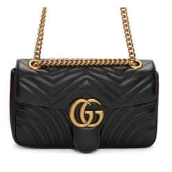 New Gucci Gg Marmont Small Matelasse Shoulder Bag