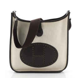 Evelyne Crossbody Gen I Toile and Leather GM