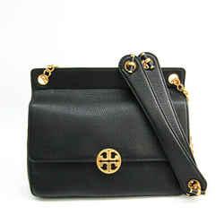 Tory Burch Chelsea Flap Chain 48730 Women's Leather Shoulder Bag Black Bf511097