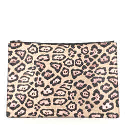 Zipped Pouch Printed Coated Canvas Large