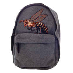 NEW $2100 GUCCI Beaded Sky Wool Backpack Bee Embroidered - Grey