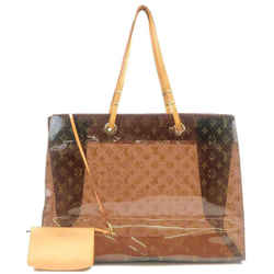 Louis Vuitton Clear Monogram Sac Cabas Cruise Ambre GM Tote Bag with Pouch 240753