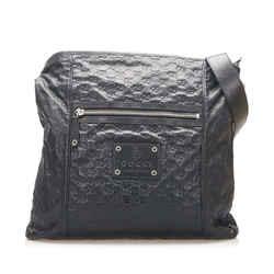 Black Gucci Guccissima Shoulder Bag