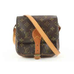 Louis Vuitton Monogram Mini Cartouchiere Crossbody Bag 591lvs315