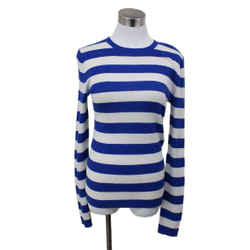 Michael Kors Blue and White Striped Cashmere Sweater sz 4