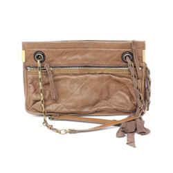 Lanvin Brown Quilted Leather Shoulder Bag