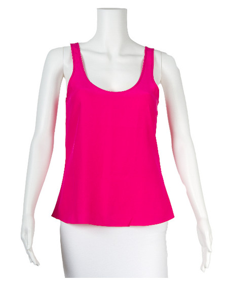 Parker Ruched Silk Tank