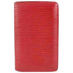 Louis Vuitton Red Epi Leather Card Holder Wallet Case 510lvs68
