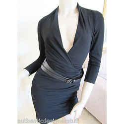 Auth KAUFMANFRANCO Black Jersey Dress, Size XS
