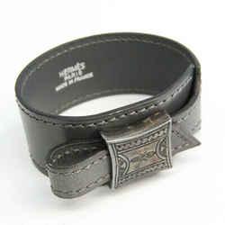Hermes Artemis Touareg Leather,Metal Bangle Dark Gray,Gunmetal BF530969