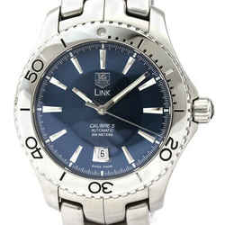 Polished TAG HEUER Link Calibre 5 Steel Automatic Mens Watch WJ201C BF530444
