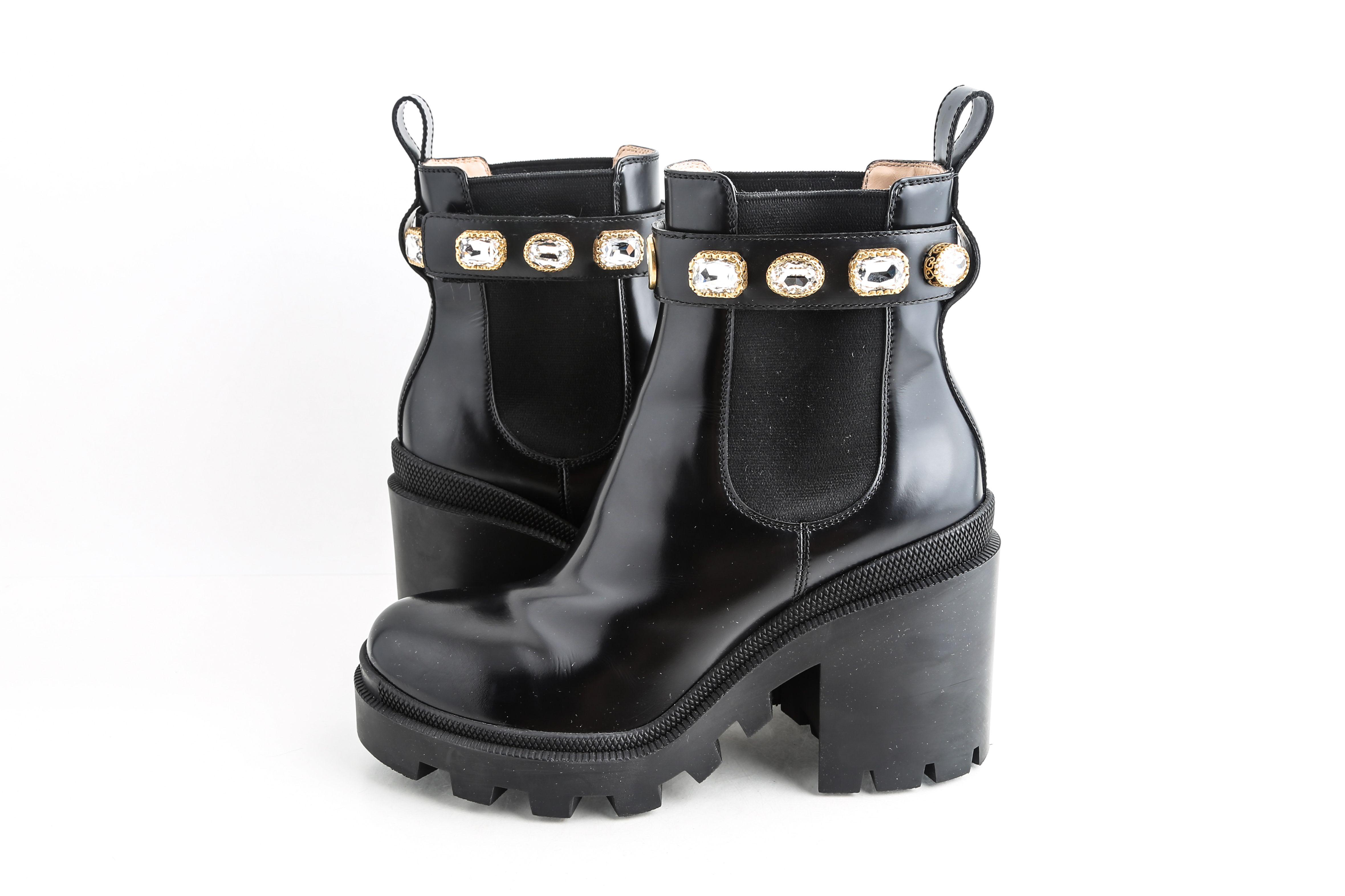 Gucci Black Leather Ankle Boot With