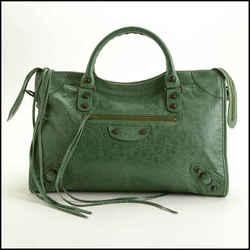 Rdc11745 Authentic Balenciaga Cypress Green Lambskin Classic City Bag