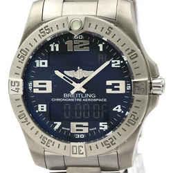 Polished BREITLING Aerospace Evo Titanium Quartz Mens Watch E79363 BF522045