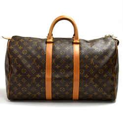 Vintage Louis Vuitton Keepall 45 Monogram Canvas Duffle Travel Bag 1990s LT894